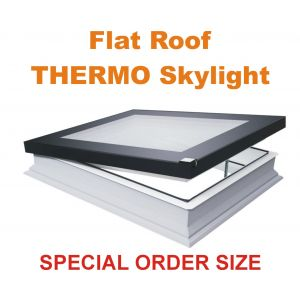 DEF-D 22''x30'' U6 Electric Vented Flat roof skylight U6 THERMO (triple glazed)