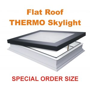 DMF-D 22''x46'' U6 Manual Vented Flat roof skylight U6 THERMO (triple glazed)