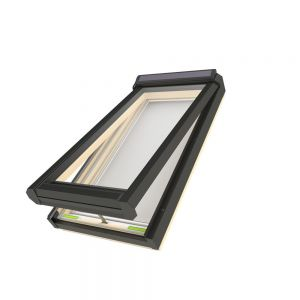 FAKRO FVS-504 - SOLAR Powered Venting Deck-Mounted Skylight with Laminated Low-E366 Glass (R.O - 30-1/2'' x 37-1/2'')