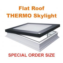 DEF-D 22''x46'' U6 Electric Vented Flat roof skylight U6 THERMO (triple glazed)
