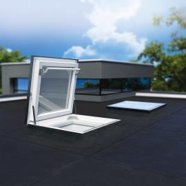 FAKRO DRF - 36''x36'' Flat Roof Access Skylight Triple Glazed Laminated Skylight