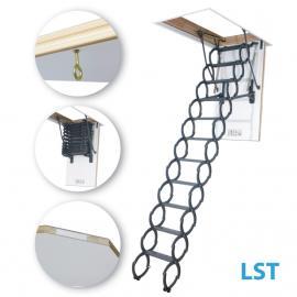 FAKRO LST 22''x31'' Scissor Insulated 350 bs Attic Ladder 7'2